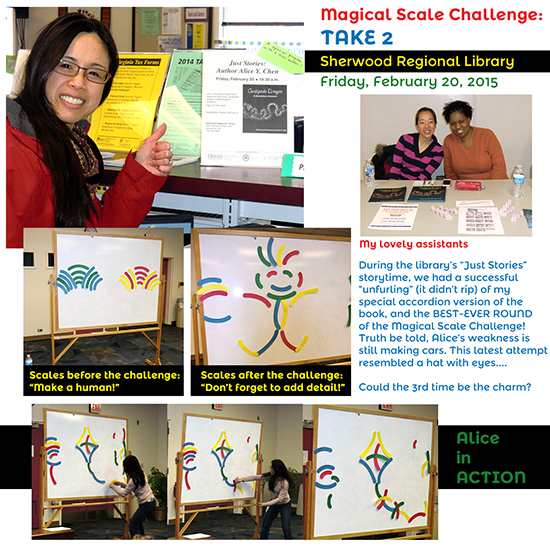 Sherwood Regional Library presentation January 2015, magical scale game challenge